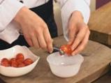 Пълнени чери домати с миди и пастет от маслини 5