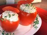 Пълнени домати с броколи и извара