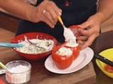 Пълнени домати с броколи и извара 5
