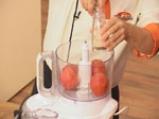 Скумрия на грил с тиквички и доматено сорбе