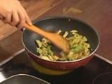 Скумрия на грил с тиквички и доматено сорбе 7