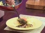 Скумрия на грил с тиквички и доматено сорбе 9
