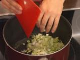 Лучена супа с праз и топено сирене 2
