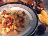 Супа от кестени с шпеков салам и крем...