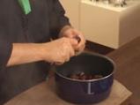 Супа от кестени с шпеков салам и крема сирене