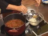 Супа от кестени с шпеков салам и крема сирене 8