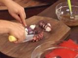 Маринован октопод с каперси и сушени домати 6