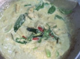Пиле със зелено къри 6