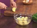 Салата с телешко, картофи и зелен фасул 2