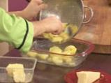 Картофен огретен с гъби и праз лук 2