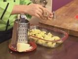 Картофен огретен с гъби и праз лук 9
