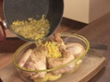 Пиле с картофи и царевица 7
