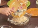 Пъстърва с орехова коричка и синьо сирене 3