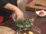 Огретен с картофи и спанак 2