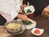 Огретен с картофи и спанак 6