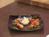 Салата от печени чушки, чери домати и мус от сирене 8
