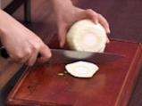 Чорба от леща с резене и печени чушки 2