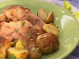 Задушен джолан с пресни картофи