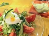 Гергьовска салата със заливка от леворда