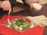 Салата от аспержи със запечен сос