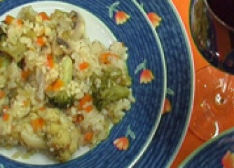 Ризото със зеленчуци
