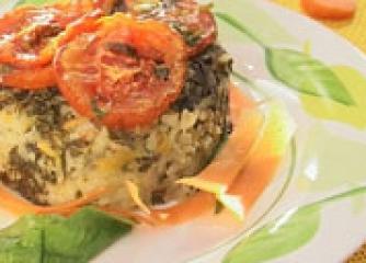 Ориз с лапад на фурна