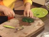 Омлет със спанак, леща и бекон 6