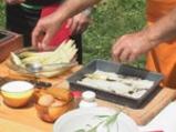 Бяла риба с аспержи и сос от пармезан 3