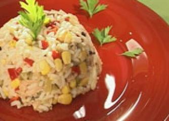 Френска салата  с ориз и риба тон
