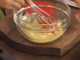 Крем брюле с малини и ябълки 5