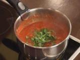 Патладжани с доматен сос и макарони 7