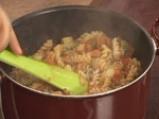 Патладжани с доматен сос и макарони 10
