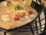 Студена супа от зрял фасул с бекон