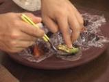 Терин от тиквички с рулца от раци 5