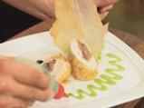 Пилешко роле с пилешки дроб, пастет от пилешки дроб, чипс от пиле и олио от мащерка 9