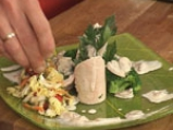 Пилешко руло със спанак и гъбен сос 10