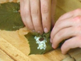 Лозови сарми с орехи и стафиди 2