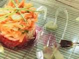 Салата от червено цвекло, моркови и я...