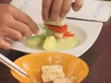 Пангасиус с мариновани чушки и пюре от аспержи  10