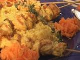 Пилешки шишчета с кускус и салата от ...