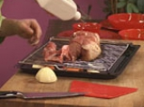 Печено свинско за Йордановден с ориз и горски гъби 4
