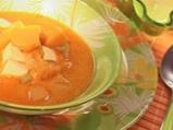 Тиквена супа с тофу и къри