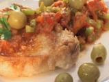 Пържоли със зелени маслини
