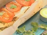 Лаврак в пергамент със зеленчуци