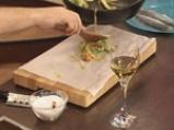Лаврак в пергамент със зеленчуци 7