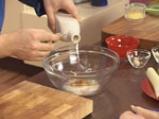 Пилешки шишчета с флен от нахут и тиквички 6