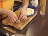 Спагети със зелен сос и сирене 2