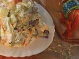 Индийска лятна салата с шафран и пиле