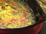 Царевична супа с чушки и тиквички
