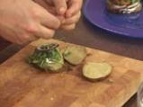Картофен сандвич с пушена сьомга 6